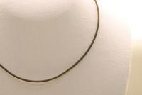 10 Stk. Kautschuk Halsband 2,9 mm. mit Edelstahl-Verschluß