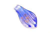 Anhänger im Murano-Stil - blau - Form: Tropfen