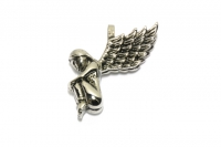Engel 3D Anhäner Edelstahlschmuck für Halsketten
