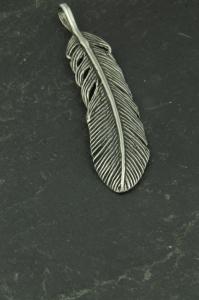 Feder Halsketten Anhänger aus Edelstahl