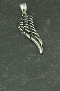 Flügel aus Edelstahl, Schmuckstück für Halsketten