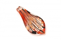Glasanhänger im Murano-Stil  - rot -  Tropfen