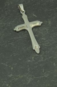 Kreuz Edelstahl Anhänger für Halsketten