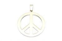 Peace Zeichen Anhänger aus Edelstahl
