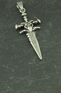 Schwert Halsketten Anhänger aus Edelstahl für Jungs