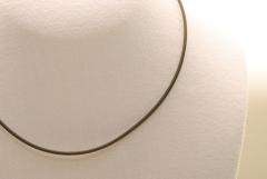 10 Stk. Kautschuk Halsband 2mm - ca. 53cm + Verlängerungskette
