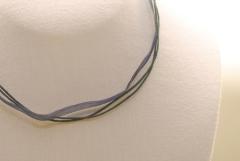 10 Stk. Organza Halsband - Halskette in dunkelblau ca. 45cm