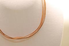 10 Stk. Organza Halsband - Halskette in hellbraun ca. 45cm