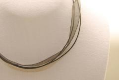 10 Stk. Organza Halsband - Halskette in schwarz ca. 45cm