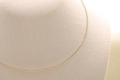 10 Stk. Stahl Halsband - Halsreif in silber ca. 45cm