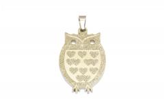Eule aus Edelstahl, Schmuckstück für Halsketten