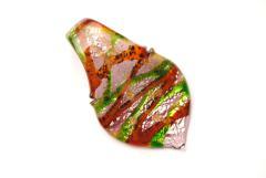 Glasanhänger Murano-Stil - rot - Anhänger Form: Blatt