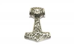 Hammer des Thor mit Maske, Wikinger Kettenanhänger aus Edelstahl