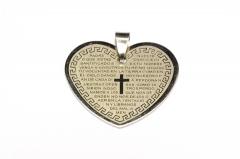 Herz Edelstahl Anhänger für Halsketten