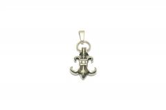Kleine Französische Lilie aus Edelstahl, Schmuckstück für Halsketten