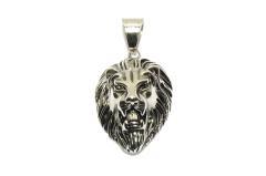 Kleiner Löwenkopf Anhänger aus Edelstahl