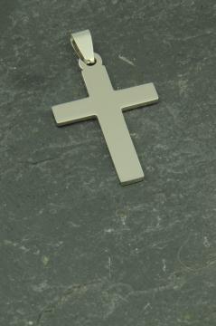 Mittelgroßer Kreuz Halsketten Schmuck Anhänger aus Edelstahl