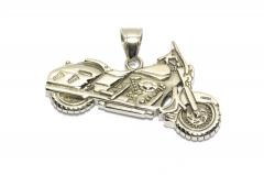 Motorrad, Biker Ketten Schmuckanhänger aus Edelstahl