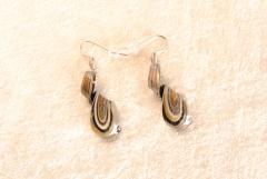 Ohrhänger  aus Muranoglas - schwarz - Helix