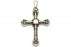 Kreuz aus Edelstahl, Schmuckstück für Halsketten