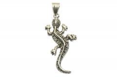 Salamander Edelstahl Anhänger für Halsketten