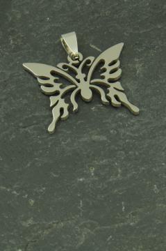 Schmetterling Halsketten Schmuck Anhänger aus Edelstahl