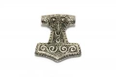 Thors Hammer Mjolnir mit Maske, Wikinger Halsketten Schmuck aus Edelstahl
