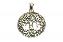 Wikinger Lebensbaum Edelstahl Anhänger für Halsketten