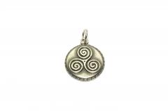 Wikinger Medallion, Anhänger mit Spiralmuster aus Edelstahl